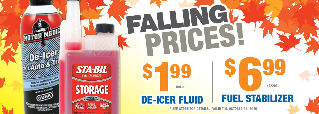 Falling Prices October Specials