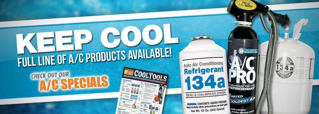 Keep Cool. A/C Producst Available!