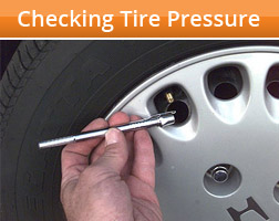 Checking Your Vehicle's Tire Pressure